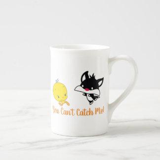 Chibi SYLVESTER™ Chasing TWEETY™ Tea Cup
