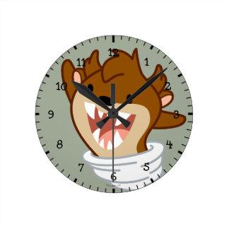 Chibi Tornado TAZ™ Round Clock