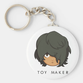 Chibi Toy Maker Button Keychain