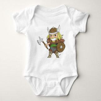 Chibi Viking (Distressed) Baby Bodysuit