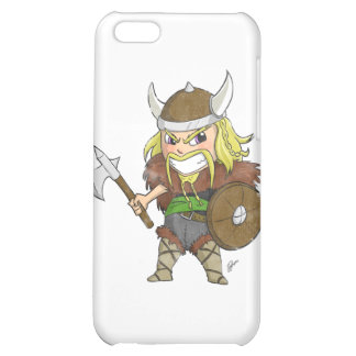 Chibi Viking Distressed Cover For iPhone 5C