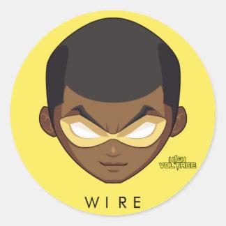 Chibi Wire Head Round Stickers