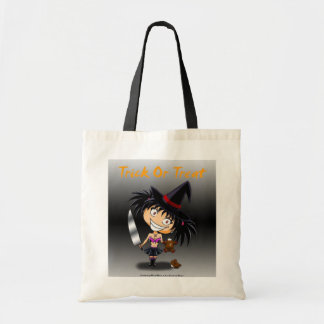 Chibi witch Mary Trick or Treat Budget Tote Bag