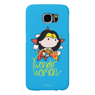 Chibi Wonder Woman Flying With Lasso Samsung Galaxy S6 Cases