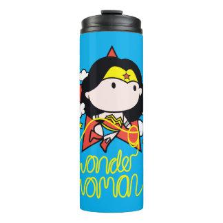 Chibi Wonder Woman Flying With Lasso Thermal Tumbler