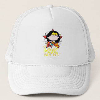 Chibi Wonder Woman Flying With Lasso Trucker Hat