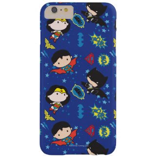 Chibi Wonder Woman, Superman, and Batman Pattern Barely There iPhone 6 Plus Case