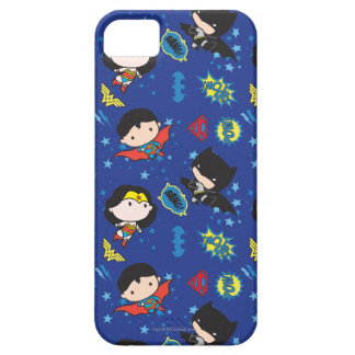 Chibi Wonder Woman, Superman, and Batman Pattern Case For The iPhone 5