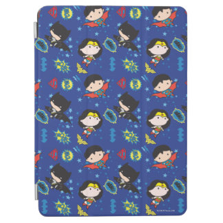 Chibi Wonder Woman, Superman, and Batman Pattern iPad Air Cover