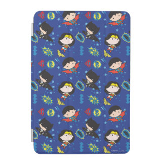 Chibi Wonder Woman, Superman, and Batman Pattern iPad Mini Cover