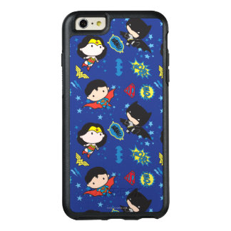 Chibi Wonder Woman, Superman, and Batman Pattern OtterBox iPhone 6/6s Plus Case