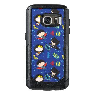 Chibi Wonder Woman, Superman, and Batman Pattern OtterBox Samsung Galaxy S7 Case