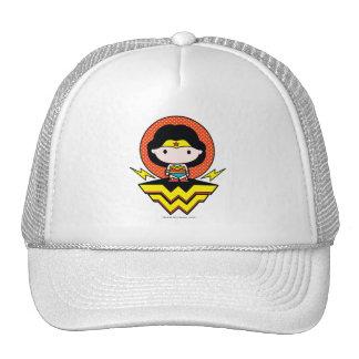 Chibi Wonder Woman With Polka Dots and Logo Cap