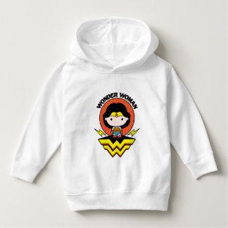 Chibi Wonder Woman With Polka Dots and Logo Hoodie