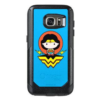 Chibi Wonder Woman With Polka Dots and Logo OtterBox Samsung Galaxy S7 Case