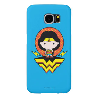 Chibi Wonder Woman With Polka Dots and Logo Samsung Galaxy S6 Cases
