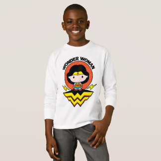 Chibi Wonder Woman With Polka Dots and Logo T-Shirt