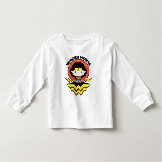Chibi Wonder Woman With Polka Dots and Logo Toddler T-Shirt