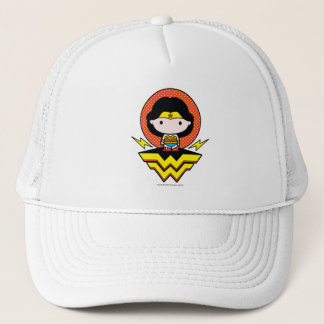 Chibi Wonder Woman With Polka Dots and Logo Trucker Hat