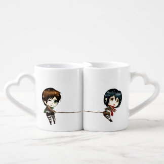 Chibinime - Lover mugs cute couple catching love
