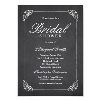 Chic 4.5x6.25 Chalkboard Bridal Shower Invitations