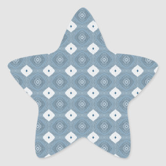 Chic Abstract Diamond Blue Sticker