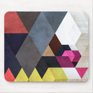 Chic abstract geometric pattern mouse pad