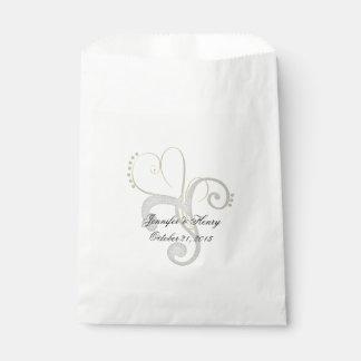 Chic Abstract Heart Custom Wedding Favor Bag