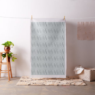 Chic Abstract Tiny Daisies Light Blue Fabric