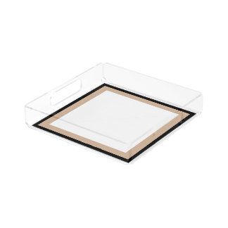 CHIC ACRYLIC TRAY_MOD HAZELNUT/BLACK/WHITE ACRYLIC TRAY