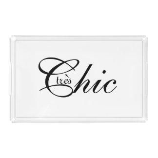 """CHIC ACRYLIC TRAY_""""tres CHIC"""" _BLACK/WHITE Acrylic Tray"""