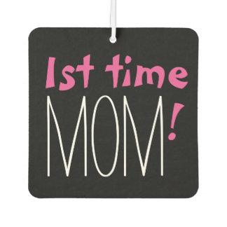 CHIC AIR FRESHENER_1st time MOM!, PINK/WHITE/BLACK Car Air Freshener