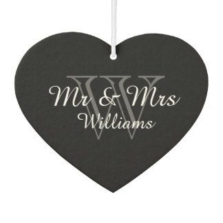 "CHIC AIR FRESHENER_""Mr & Mrs"" GRAY/BLACK/WHITE Car Air Freshener"