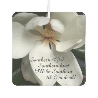 "CHIC AIR FRESHENER_""Southern Girl"" WHITE MAGNOLIA Car Air Freshener"