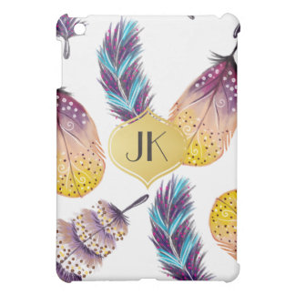 Chic and Carefree Bohemian Gold Monogram Case For The iPad Mini