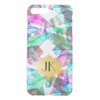 Chic and Carefree Bohemian Gold Monogram iPhone 8 Plus/7 Plus Case