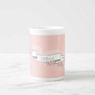 Chic and Elegant Custom Name Mug Bone China Mug