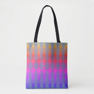Chic and Fun Bright Geometric Pattern Tote