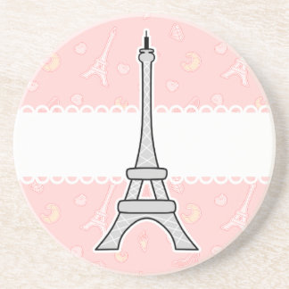 Chic and trendy girly Paris Eiffel tower Coaster
