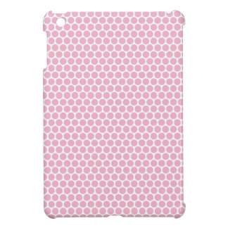 Chic and trendy pale pink polka dots dot pattern iPad mini cover