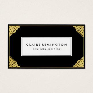 Chic Art Deco | Faux Gold Foil Business Card