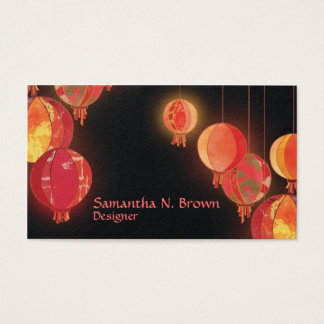 Chic Asian Lanterns Personalized Business Cards