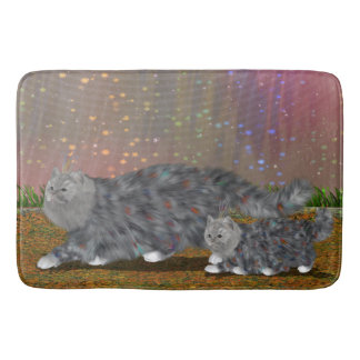 Chic Aspen Bird Cat on Bath Mat