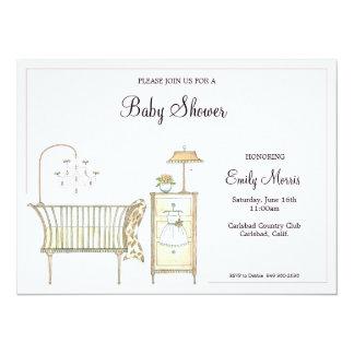 Chic Baby Room 14 Cm X 19 Cm Invitation Card