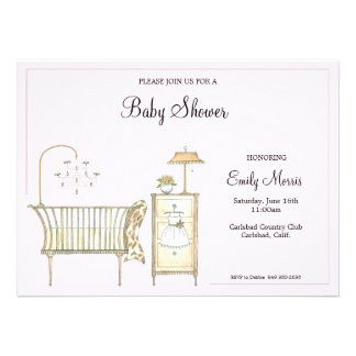 Chic Baby Room Custom Invitation