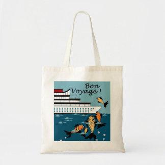 CHIC BAG_ BON VOYAGE! WITH FISH TOTE BAG