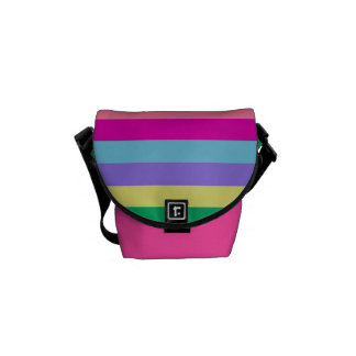 CHIC BAG_FUN COLORFUL PASTEL STRIPES COURIER BAGS