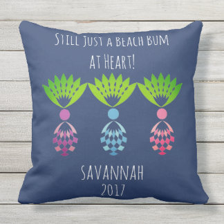 CHIC BEACH BUM_MOD TROPICAL PASTEL PINEAPPLES OUTDOOR CUSHION