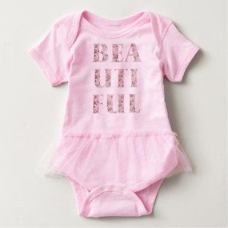 Chic Beautiful Typography Baby Bodysuit