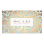 Chic Beauty Salon and Spa FAUX Gold Pattern Business Cards